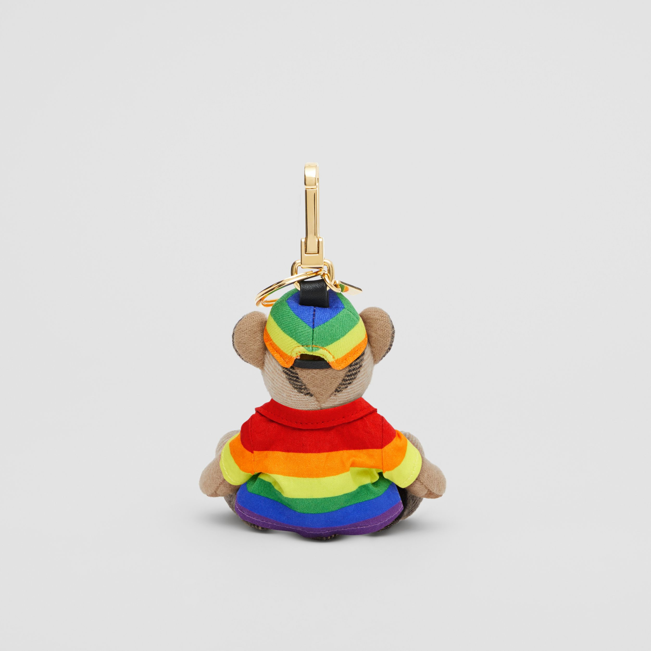 Thomas Bear Charm in Rainbow Coat and Hat in Archive Beige/multicolour | Burberry United States - 3