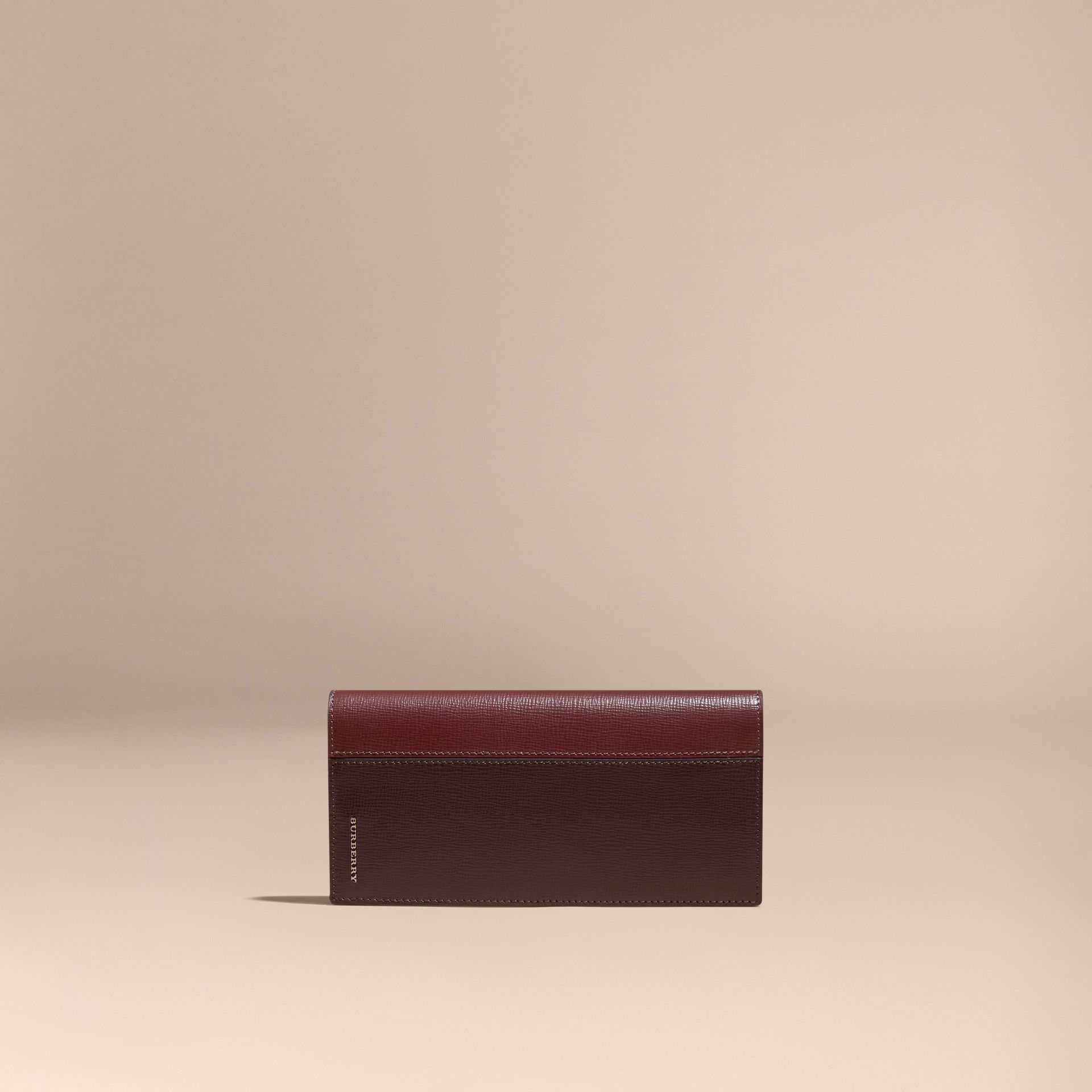 Wine/burgundy red Colour Block London Leather Continental Wallet Wine/burgundy Red - gallery image 6