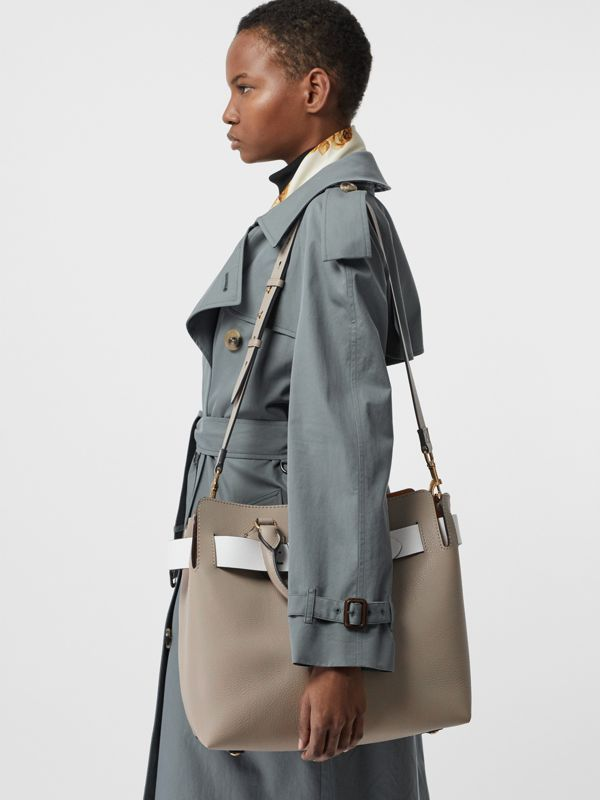 The Medium Leather Belt Bag in Mineral Grey - Women | Burberry - cell image 3