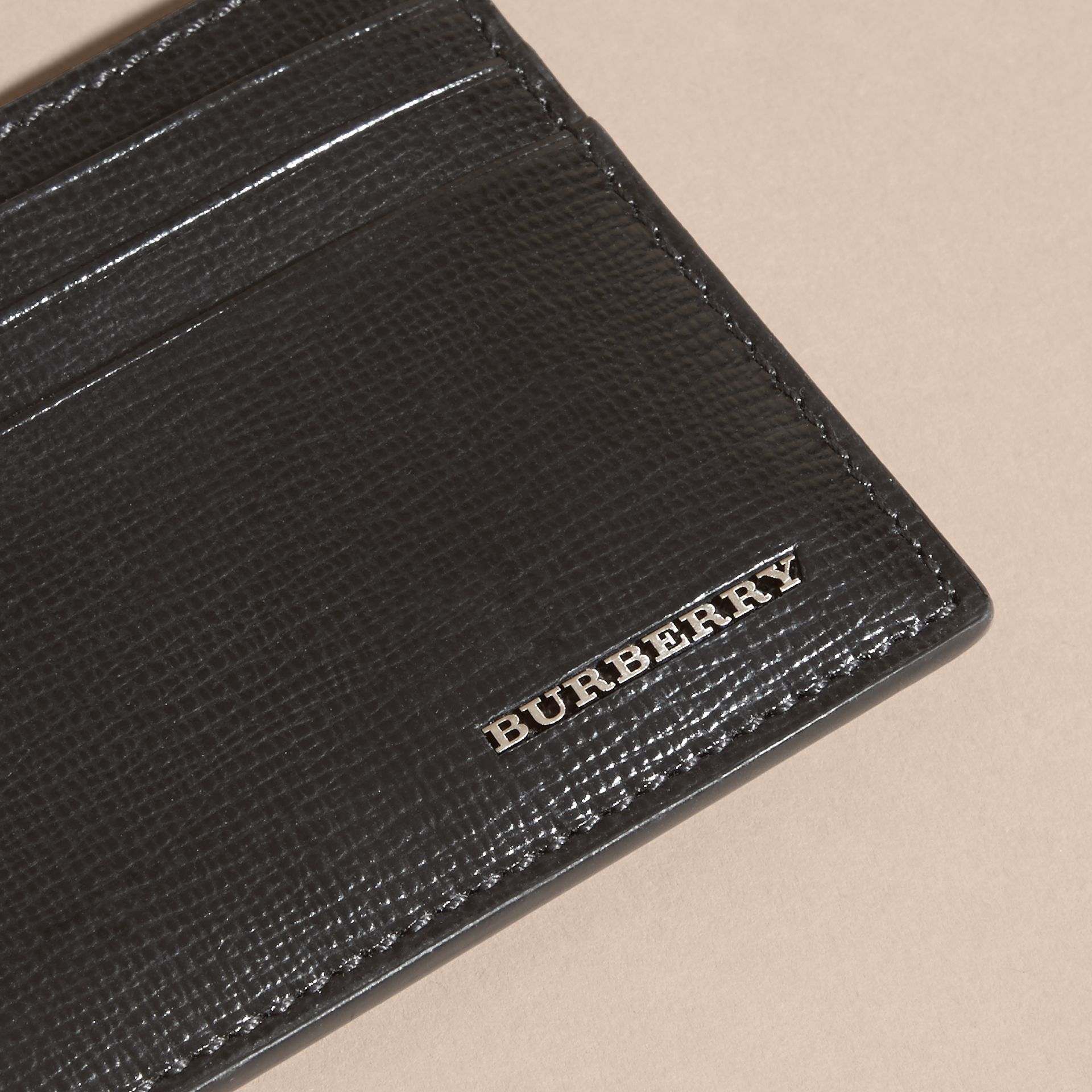 Black London Leather Card Case Black - gallery image 4