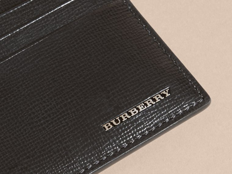 London Leather Card Case in Black | Burberry Singapore - cell image 4