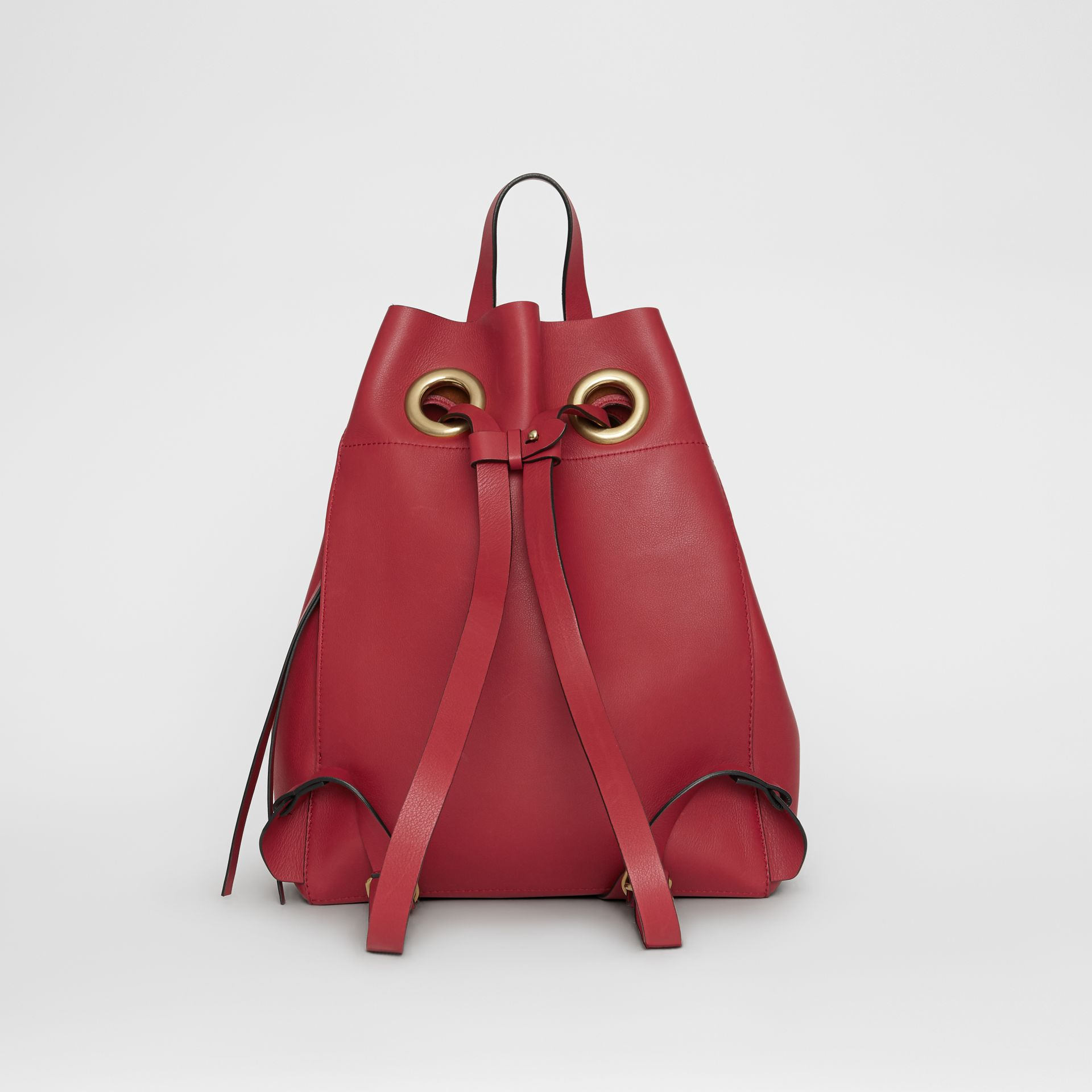 The Leather Grommet Detail Backpack in Crimson - Women | Burberry Australia - gallery image 7