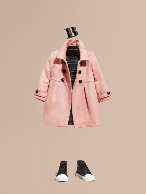 Tailored Cashmere Coat in Chalk Pink
