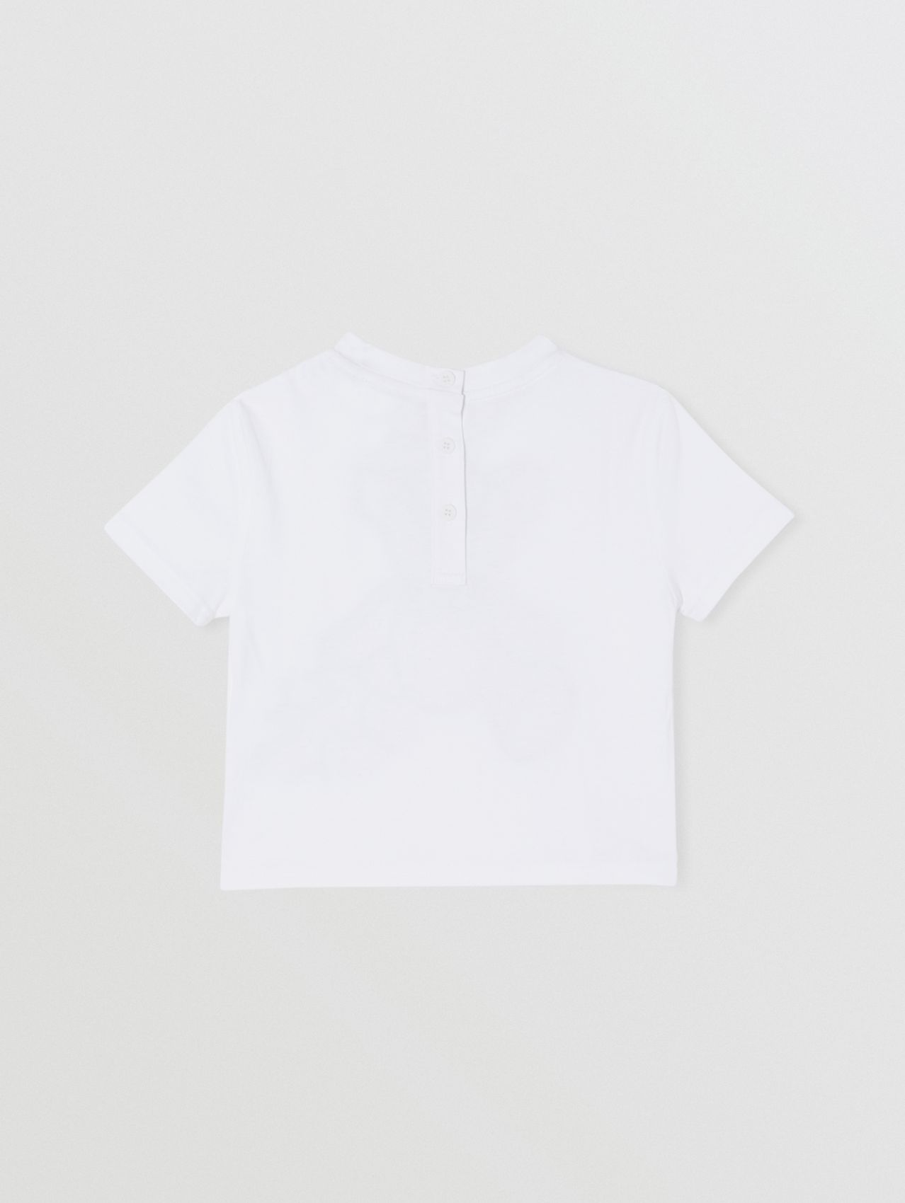 Thomas Bear Appliqué Cotton T-shirt in White