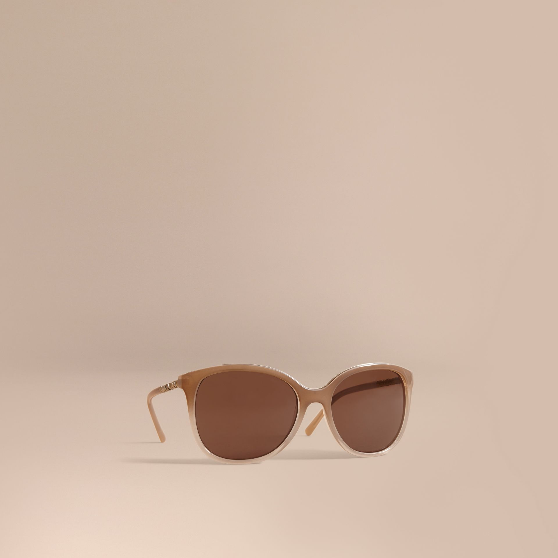 Check Detail Square Frame Sunglasses Trench - gallery image 1