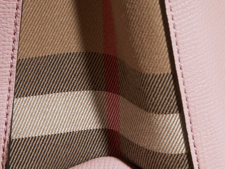 The Small Banner in Leather and House Check in Pale Orchid - Women | Burberry - cell image 1