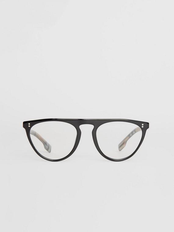Keyhole D-shaped Optical Frames in Black