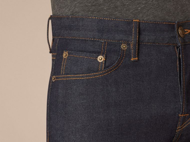 Dark indigo Straight Fit Selvedge Jeans - cell image 4