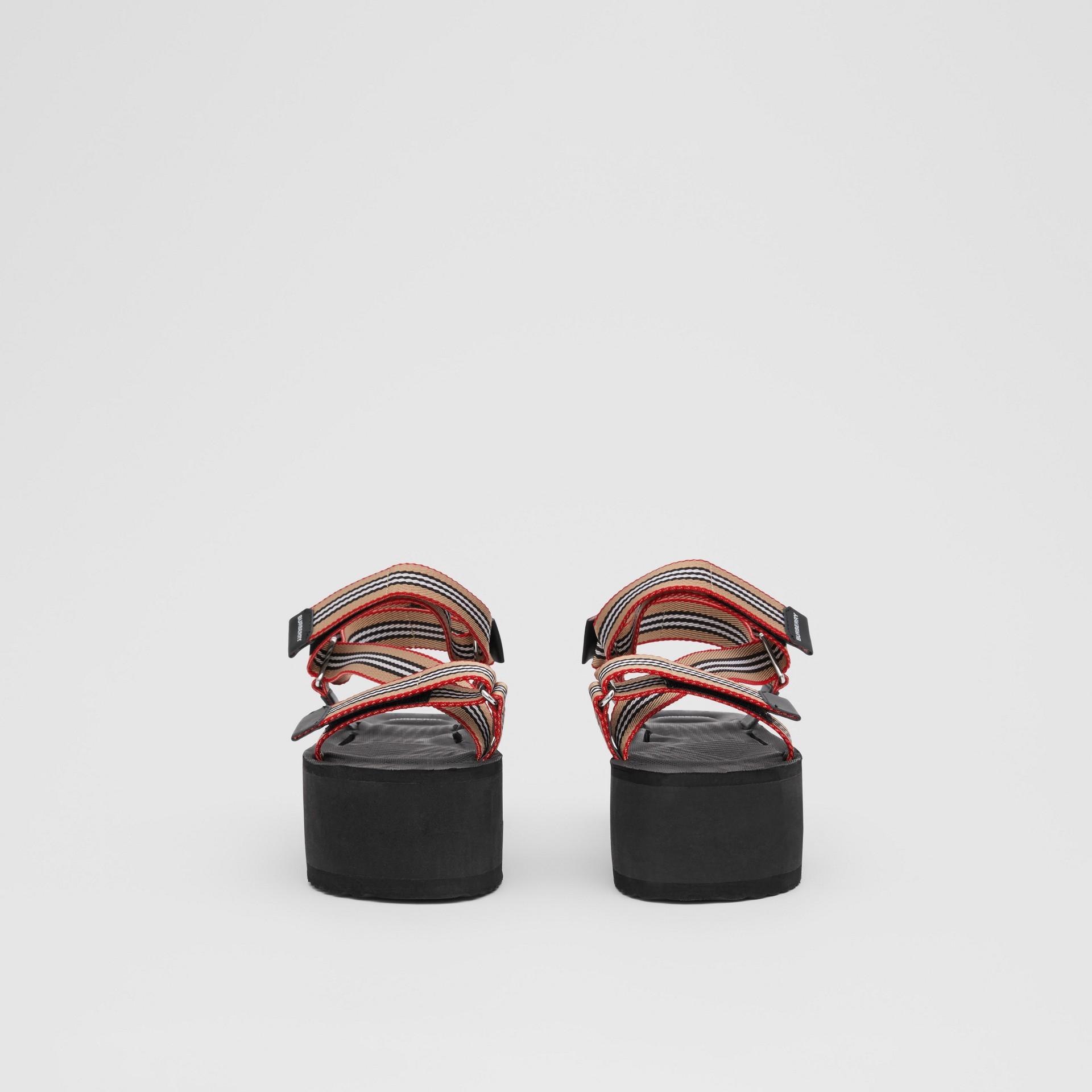 Icon Stripe Sandals in Archive Beige - Women | Burberry United Kingdom - gallery image 2
