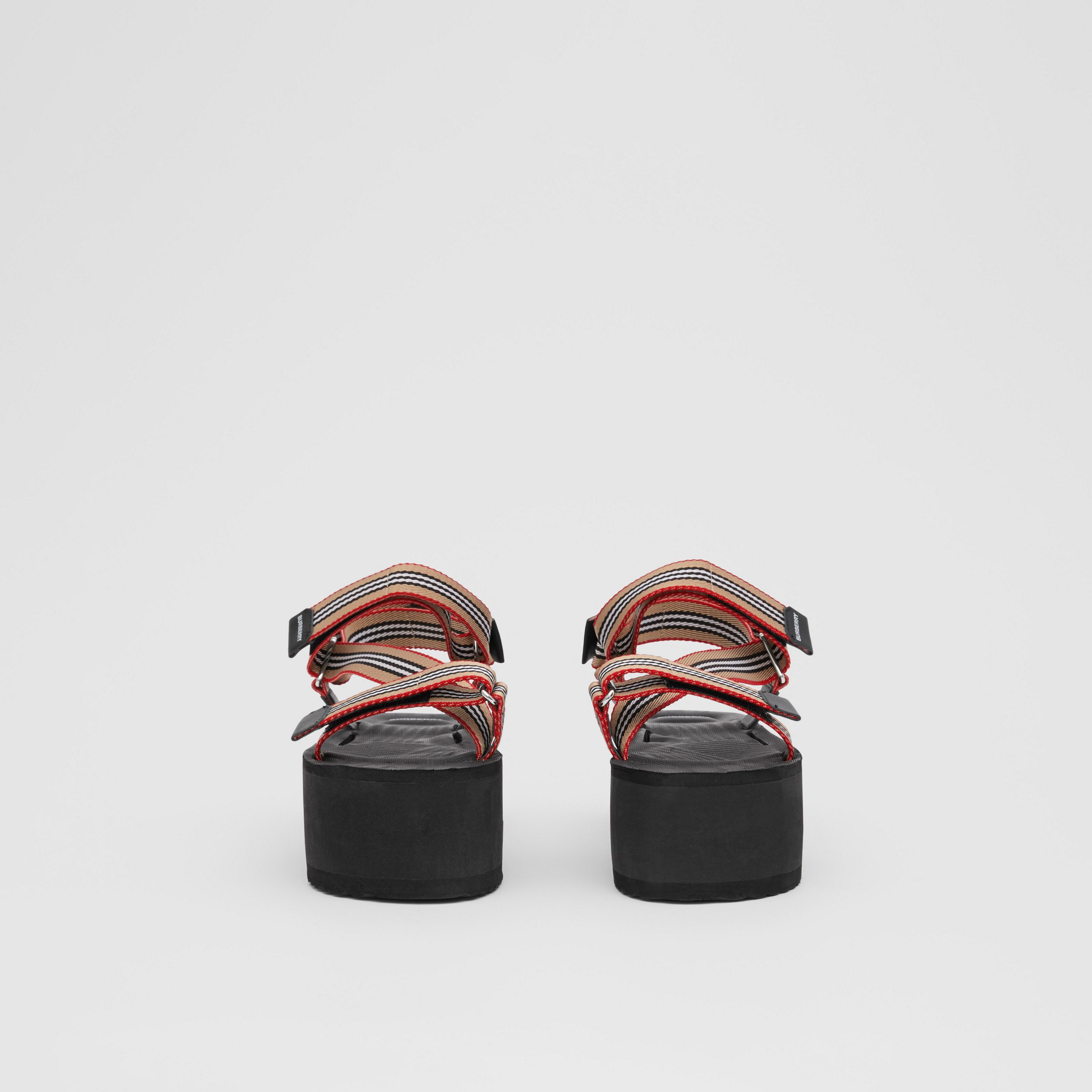 Icon Stripe Sandals in Archive Beige - Women | Burberry - 4