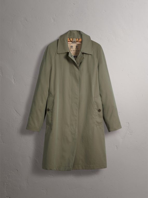 The Camden – Long Car Coat in Chalk Green - Women | Burberry - cell image 3