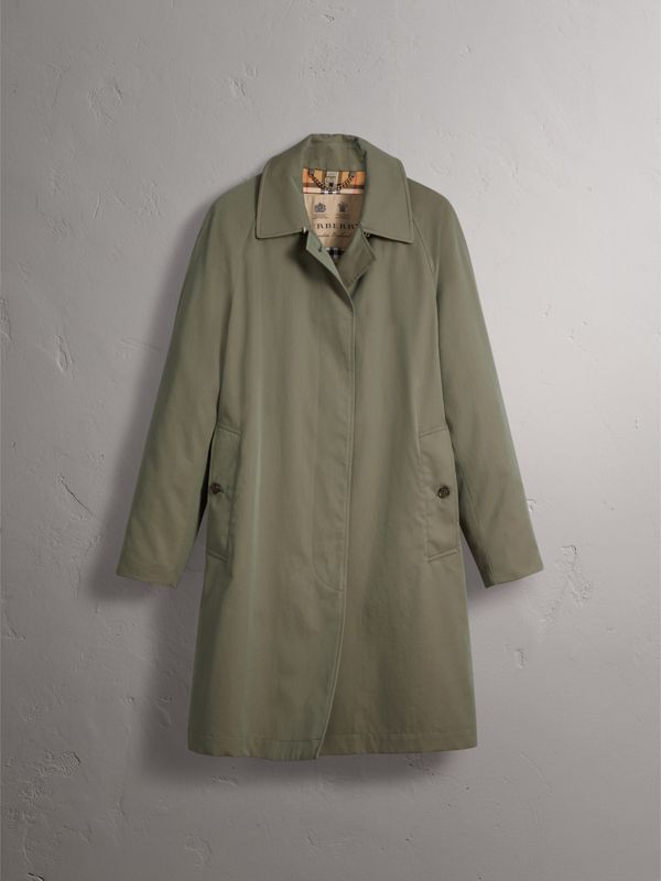 The Camden Car Coat in Chalk Green - Women | Burberry United States - cell image 3