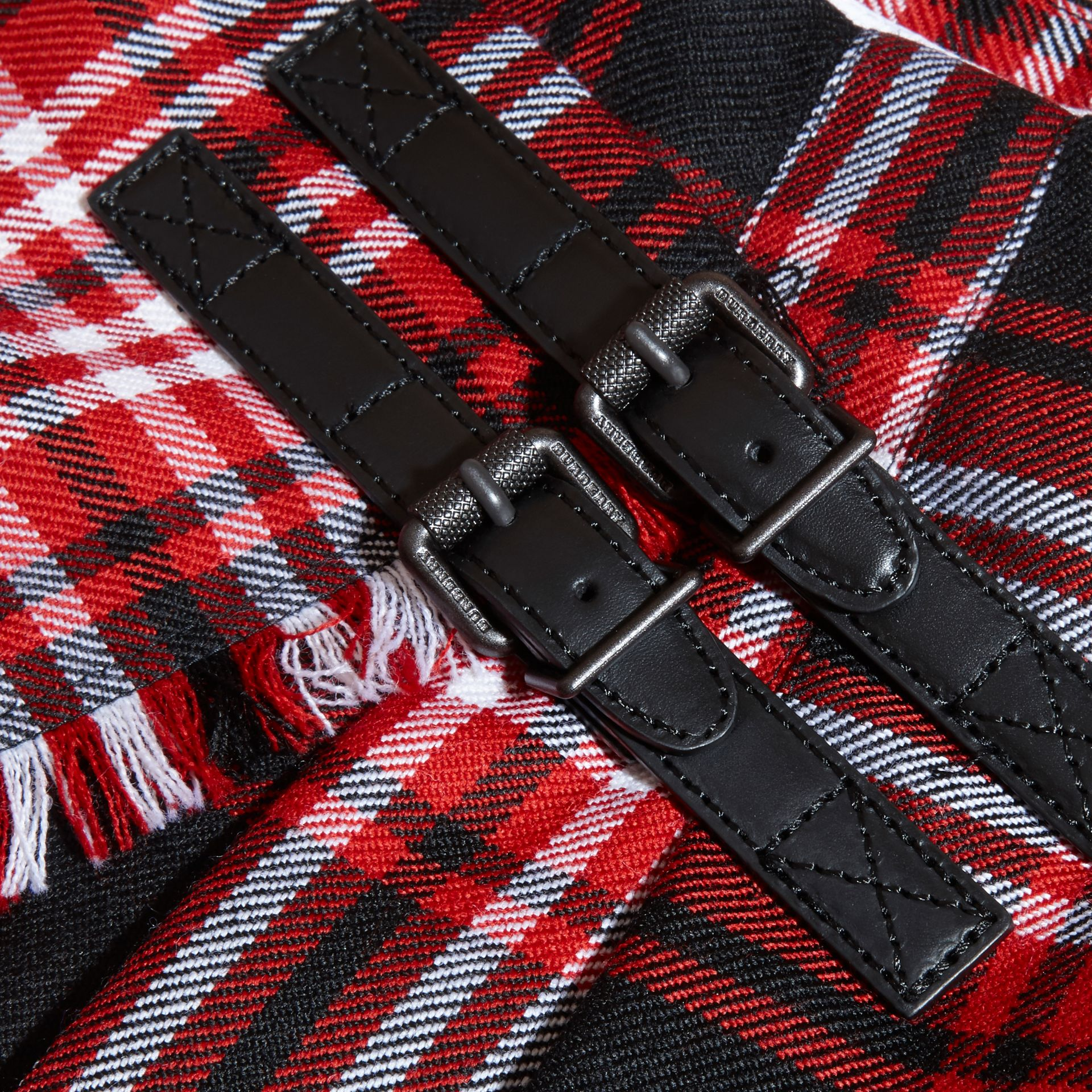Parade red Check Wool Kilt - gallery image 2