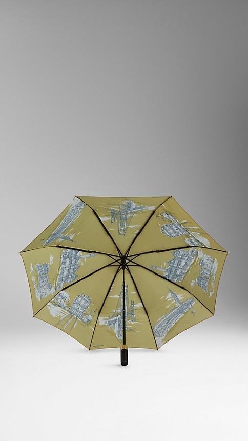 Jaune bleuet Parapluie télescopique avec monuments de San Francisco - Image 2