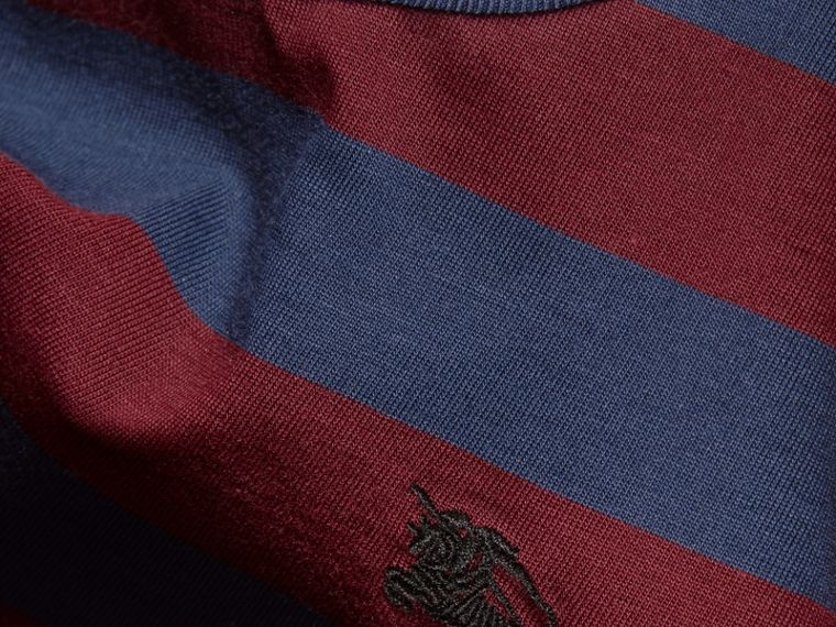 Burgundy red Striped Cotton T-Shirt Burgundy Red - cell image 1