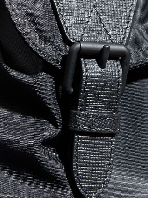 The Extra Large Rucksack in Technical Nylon and Leather - cell image 3