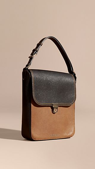 The Medium Satchel aus strukturiertem Leder