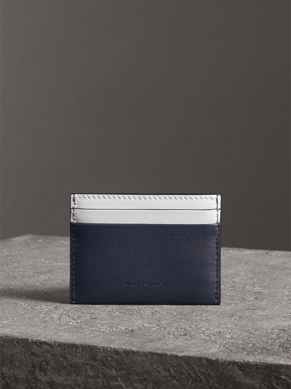 Two-tone Leather Card Case in Mid Indigo | Burberry - cell image 2