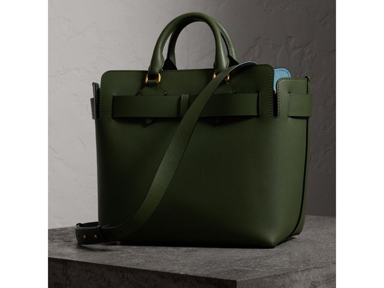 The Medium Leather Belt Bag in Sage Green - Women | Burberry - cell image 4