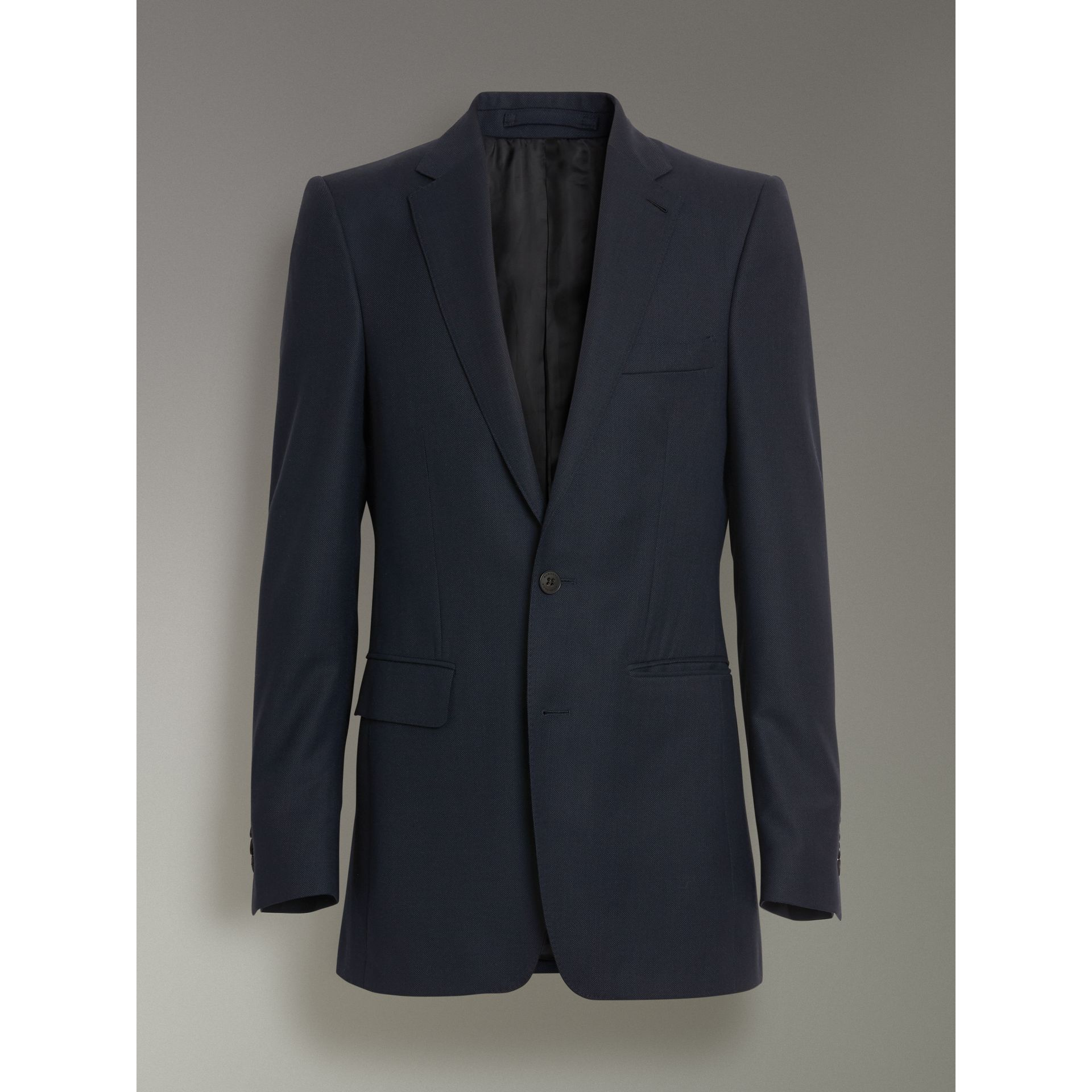 Slim Fit Birdseye Wool Suit in Navy - Men | Burberry - gallery image 3