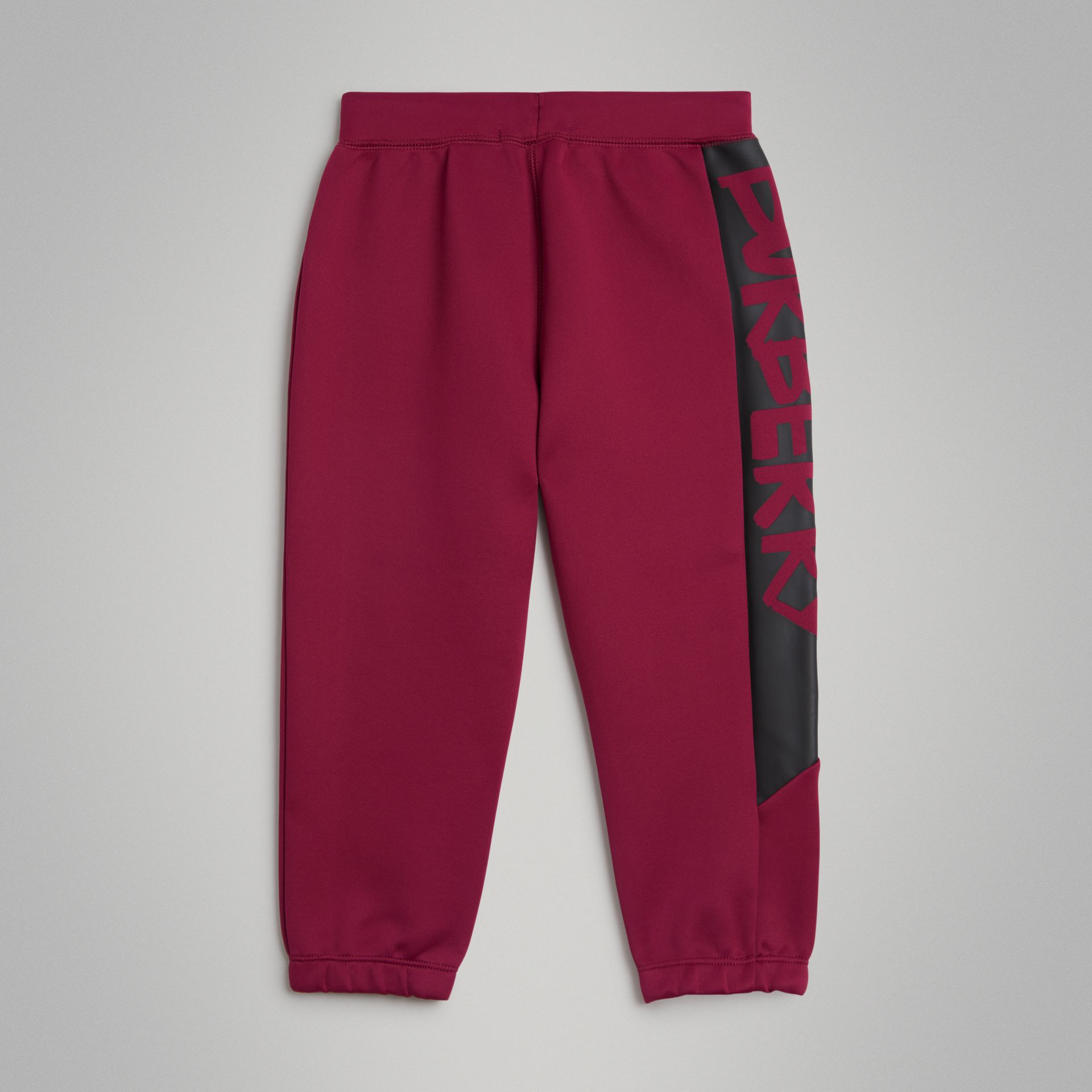 Graffiti Print Jersey Sweatpants in Burgundy | Burberry - gallery image 3