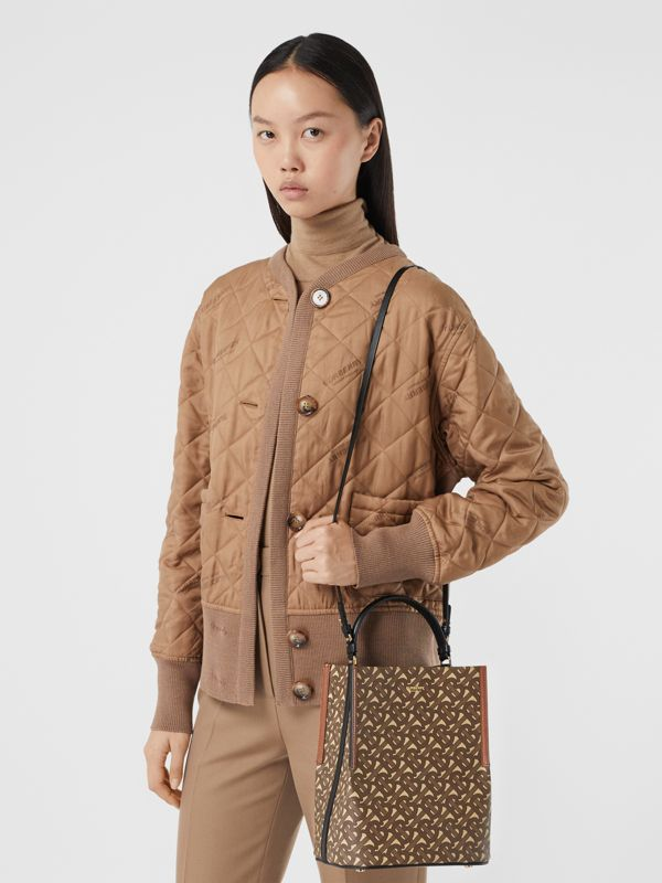 Small Monogram E-canvas Peggy Bucket Bag in Bridle Brown - Women | Burberry Australia - cell image 2