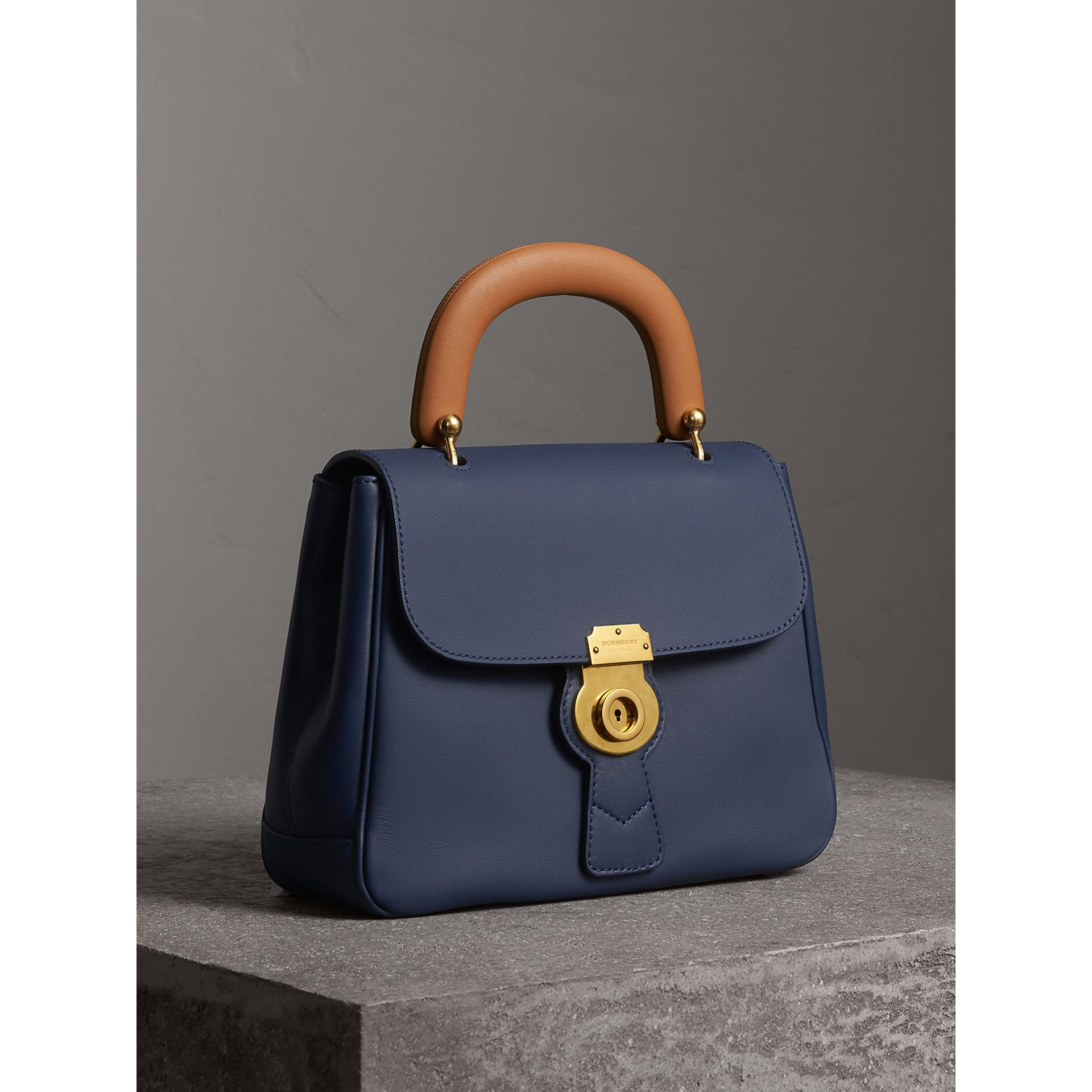 The Medium DK88 Top Handle Bag in Ink Blue - Women | Burberry United States - gallery image 6