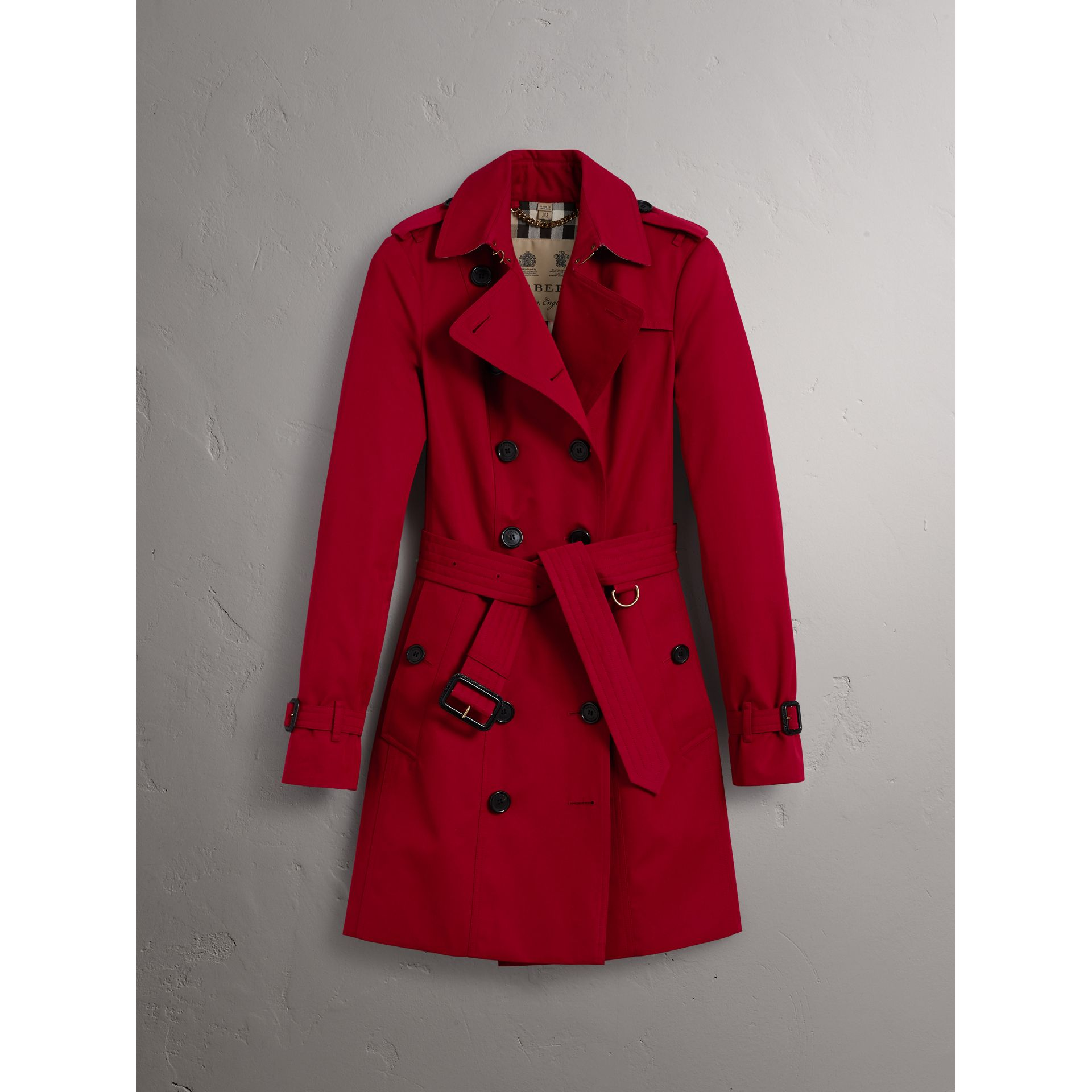 The Sandringham – Mid-length Trench Coat in Parade Red - Women | Burberry United Kingdom - gallery image 4