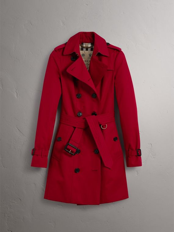 The Sandringham – Mid-length Heritage Trench Coat in Parade Red - Women | Burberry - cell image 3