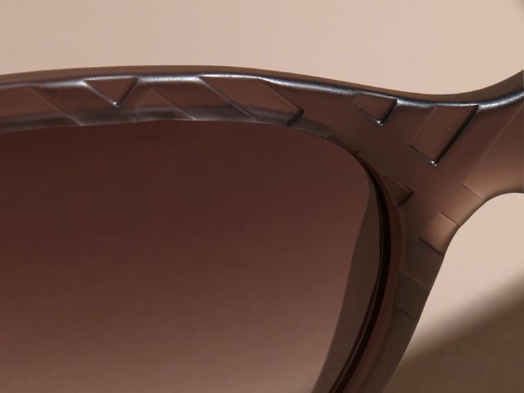 Black 3D Check Square Frame Polarised Sunglasses - cell image 4
