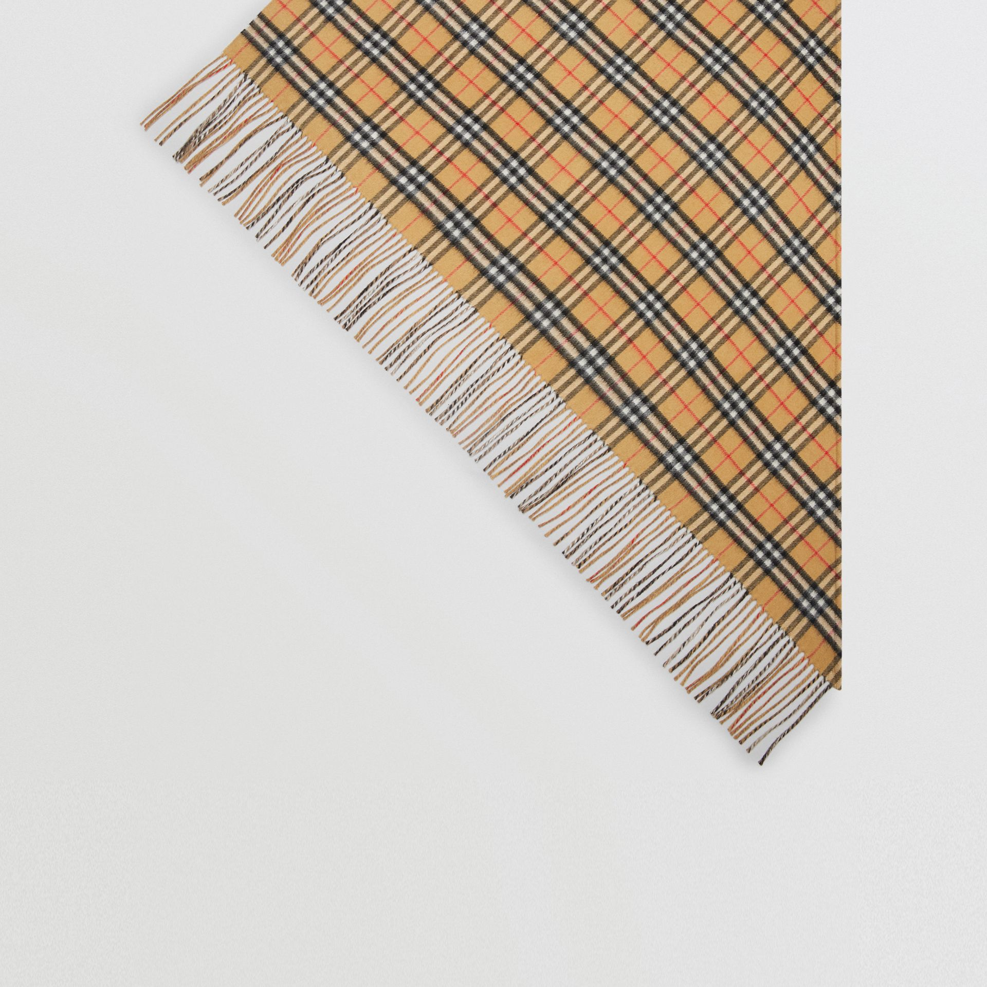 The Burberry Bandana in Vintage Check Cashmere in Sandstone | Burberry Singapore - gallery image 4