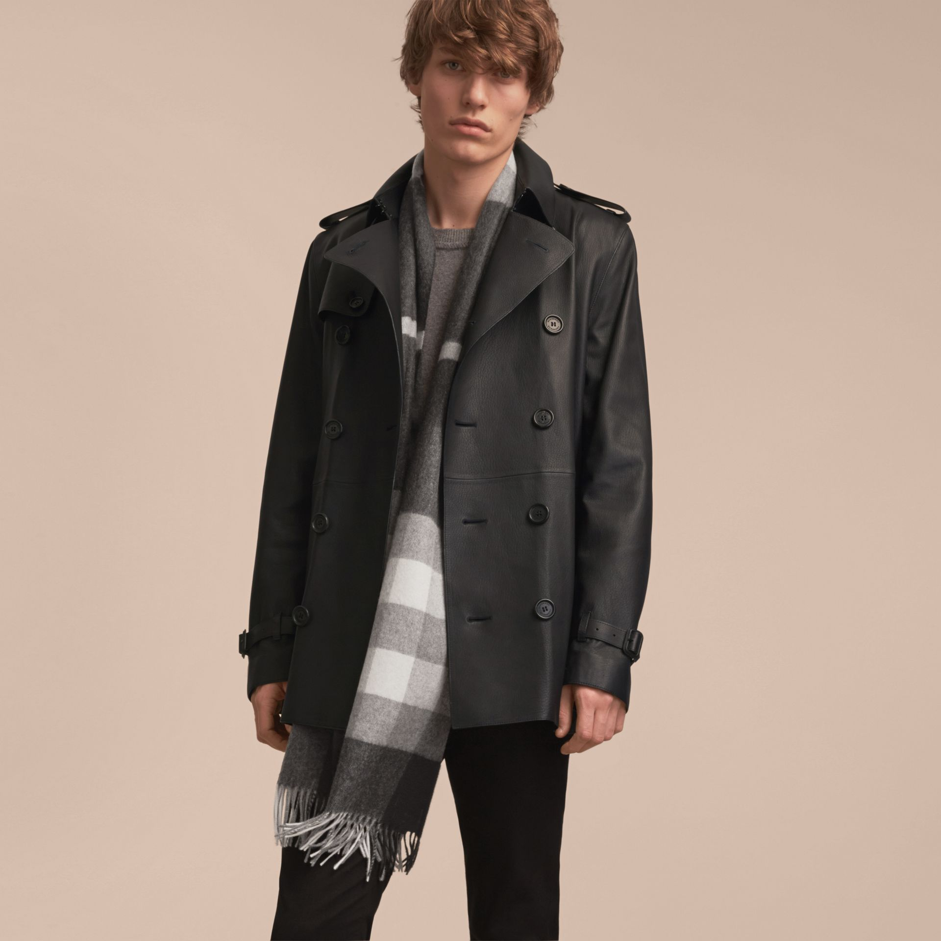 Soft Lambskin Trench Coat - gallery image 7