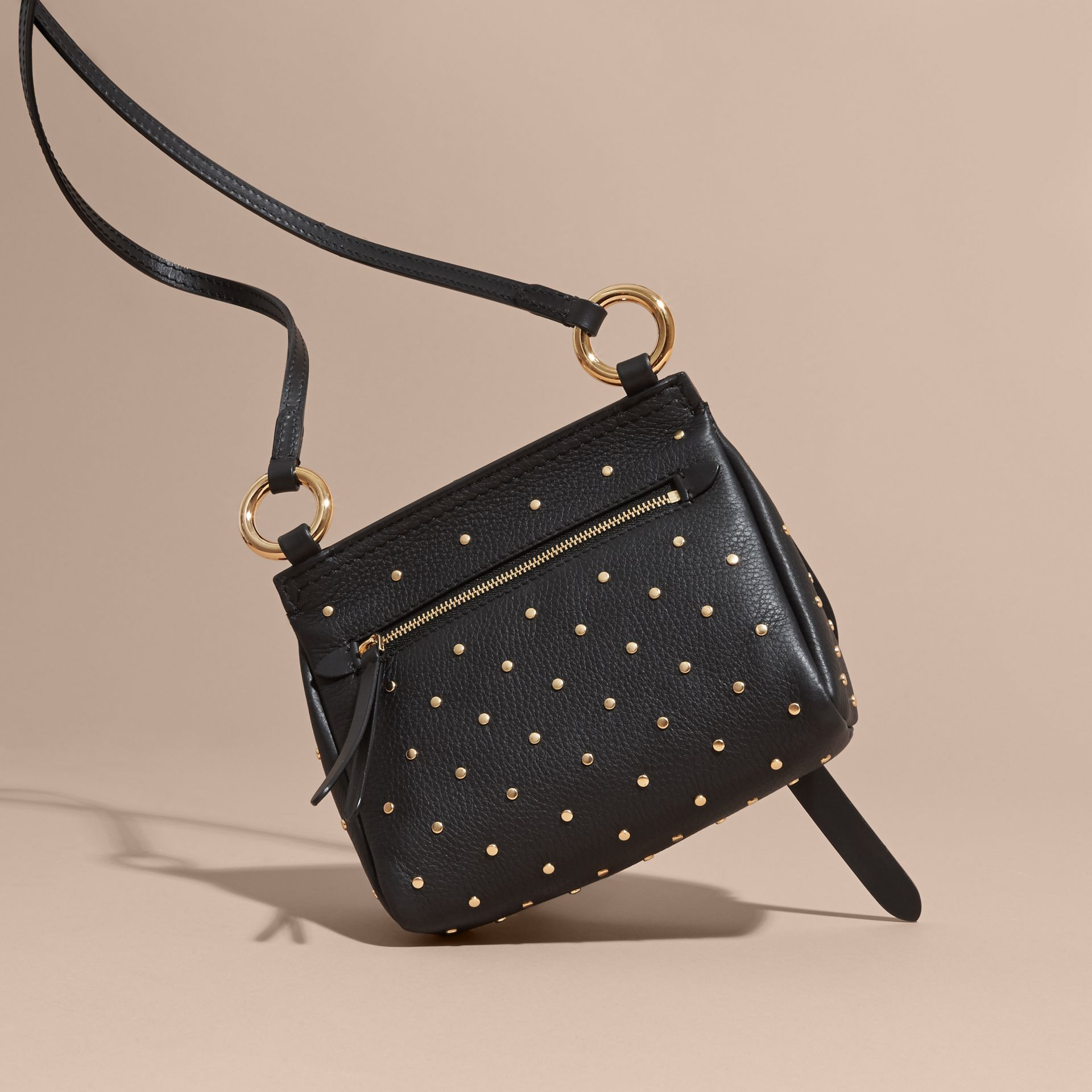 Black The Baby Bridle Bag in Riveted Leather - gallery image 5