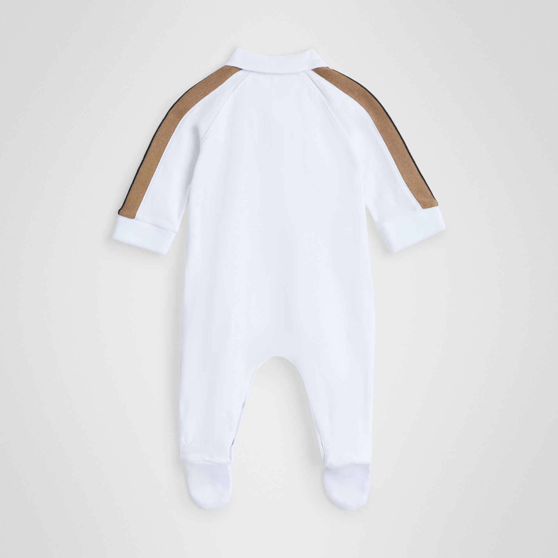 Icon Stripe Two-piece Baby Gift Set in White - Children | Burberry United States - gallery image 3