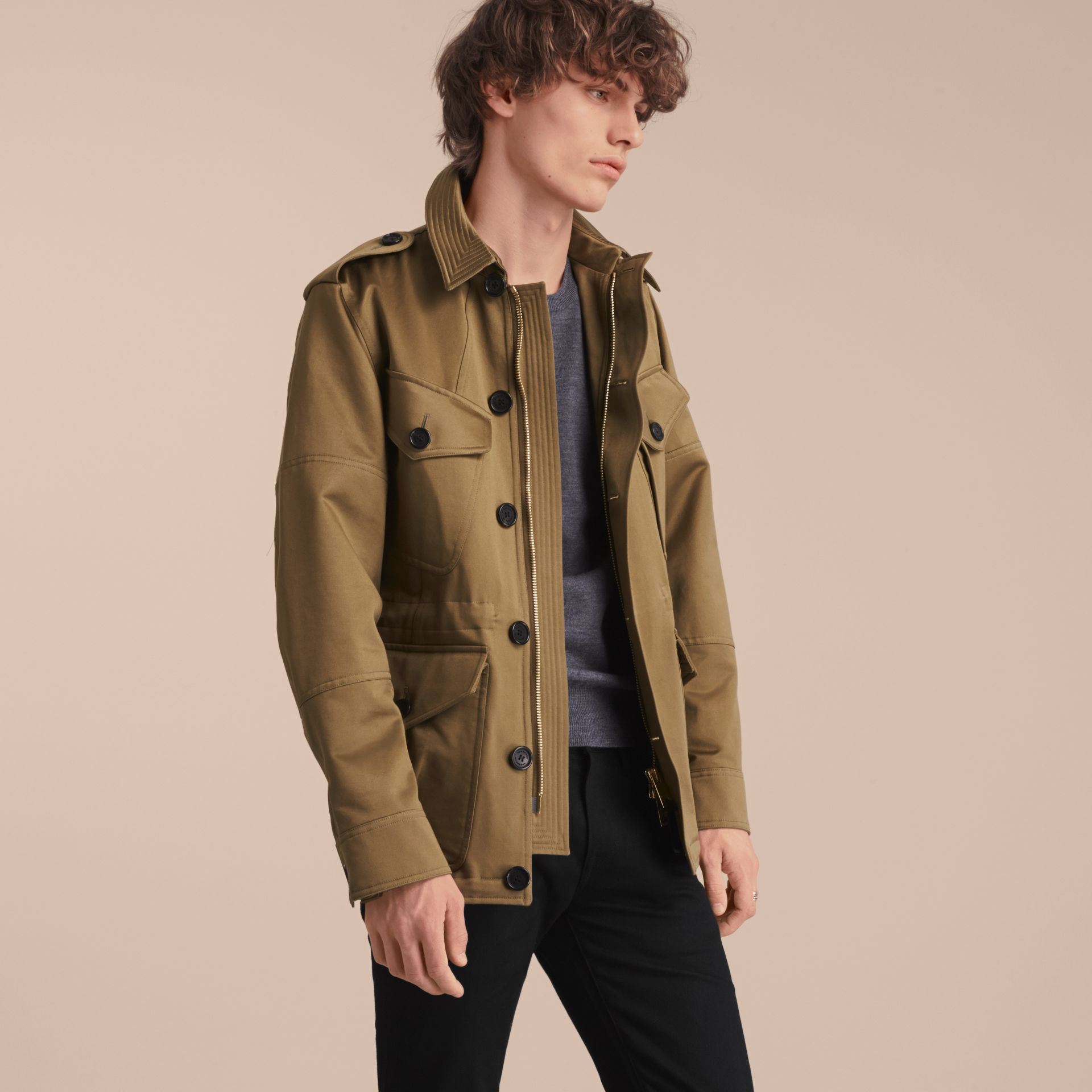 Cotton Field Jacket with Detachable Warmer - gallery image 7