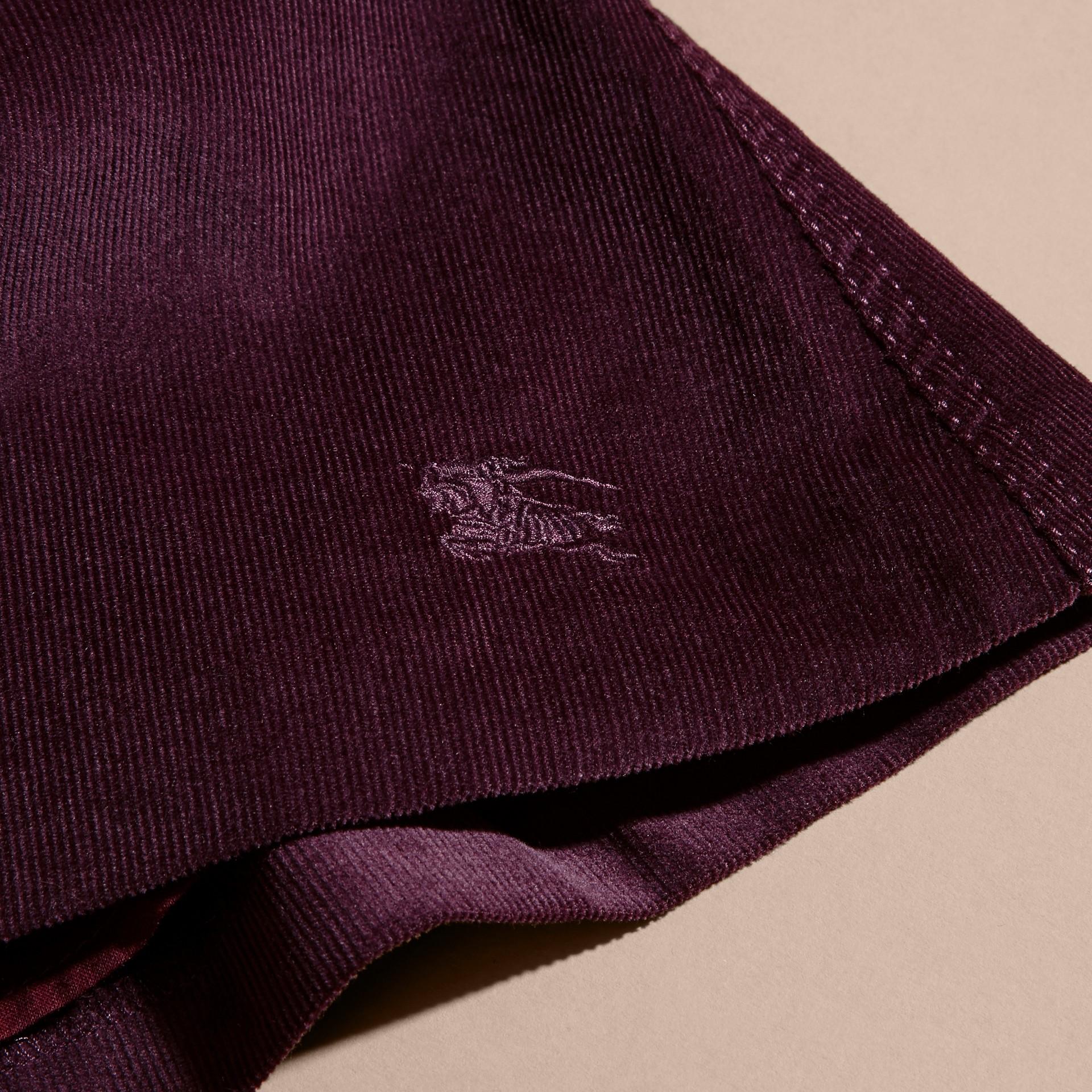 Cassis Jupe plissée en coton côtelé - photo de la galerie 2