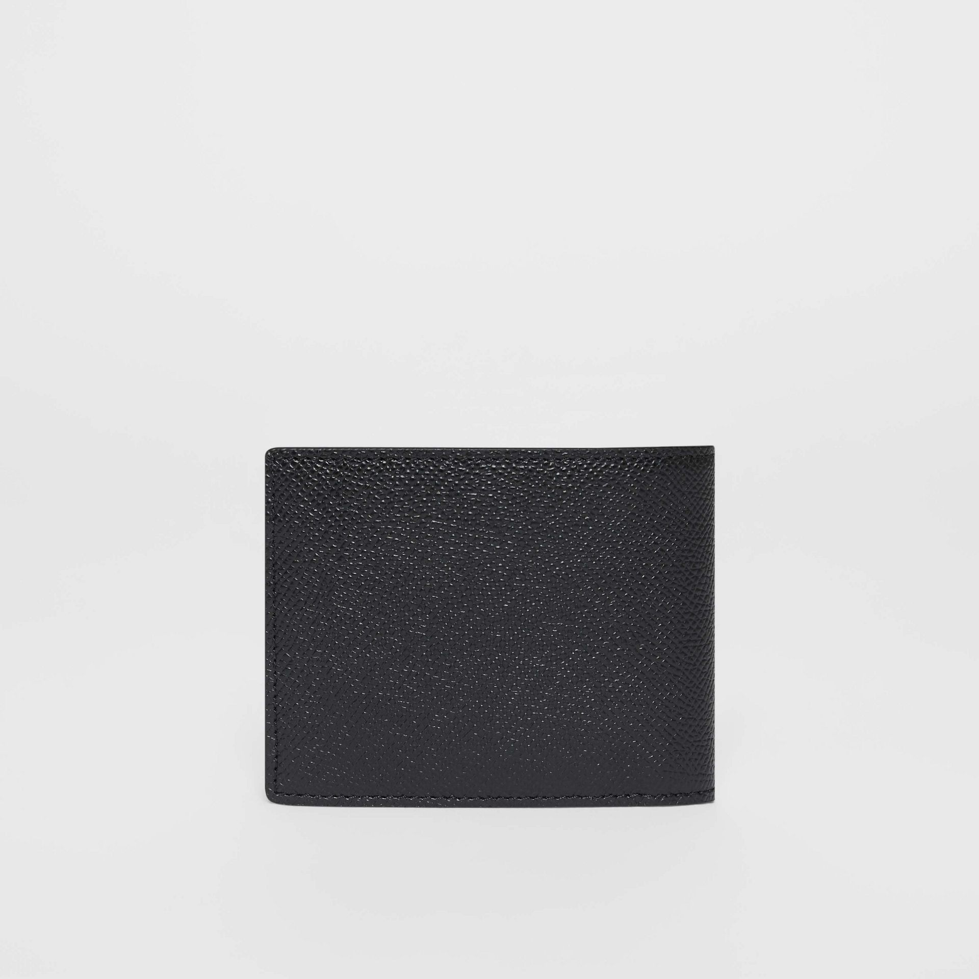 Grainy Leather Bifold Wallet in Black - Men | Burberry - gallery image 4