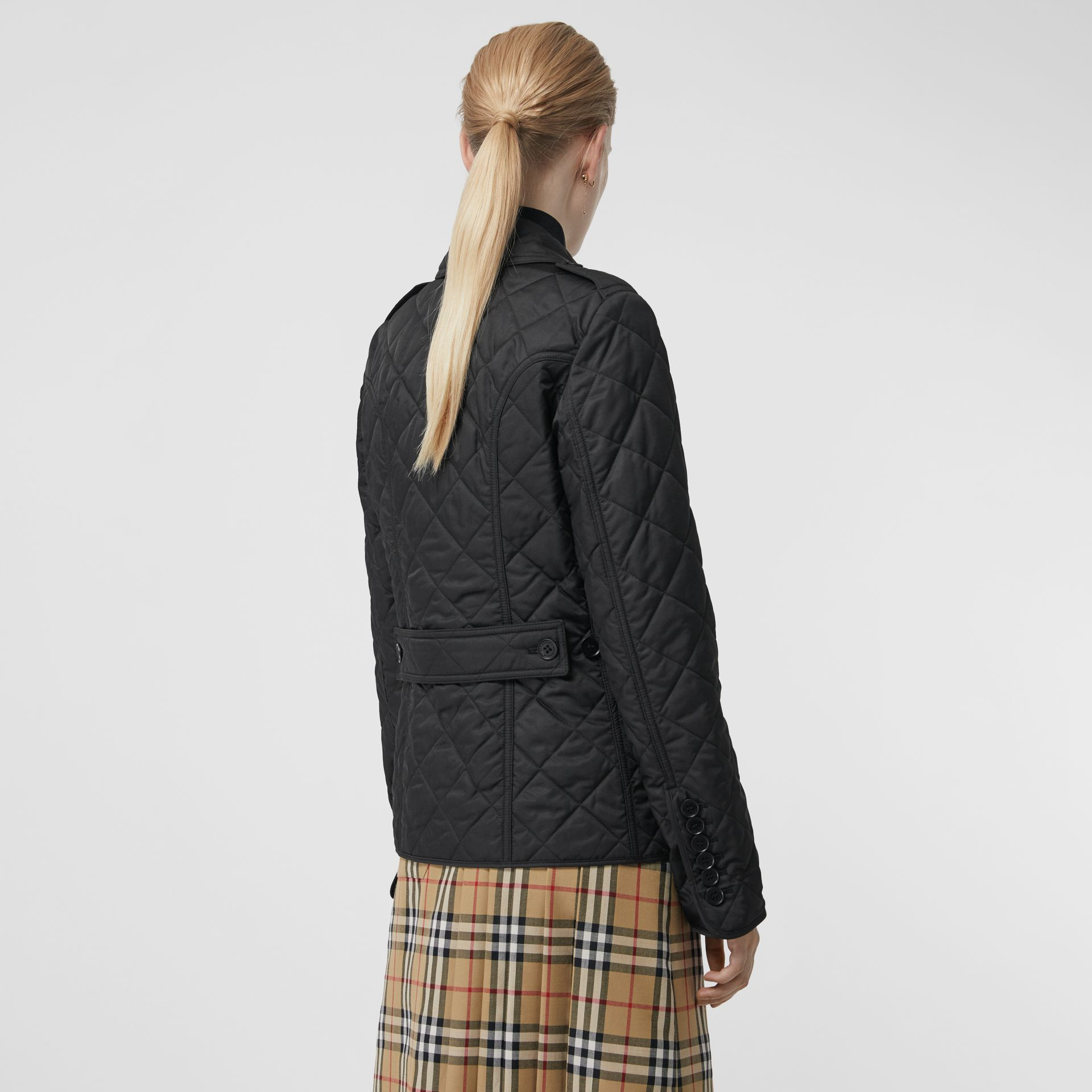 Diamond Quilted Jacket in Black - Women | Burberry United Kingdom - gallery image 2