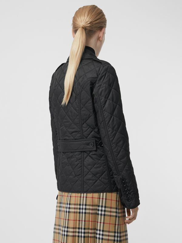 Diamond Quilted Jacket in Black - Women | Burberry United Kingdom - cell image 2
