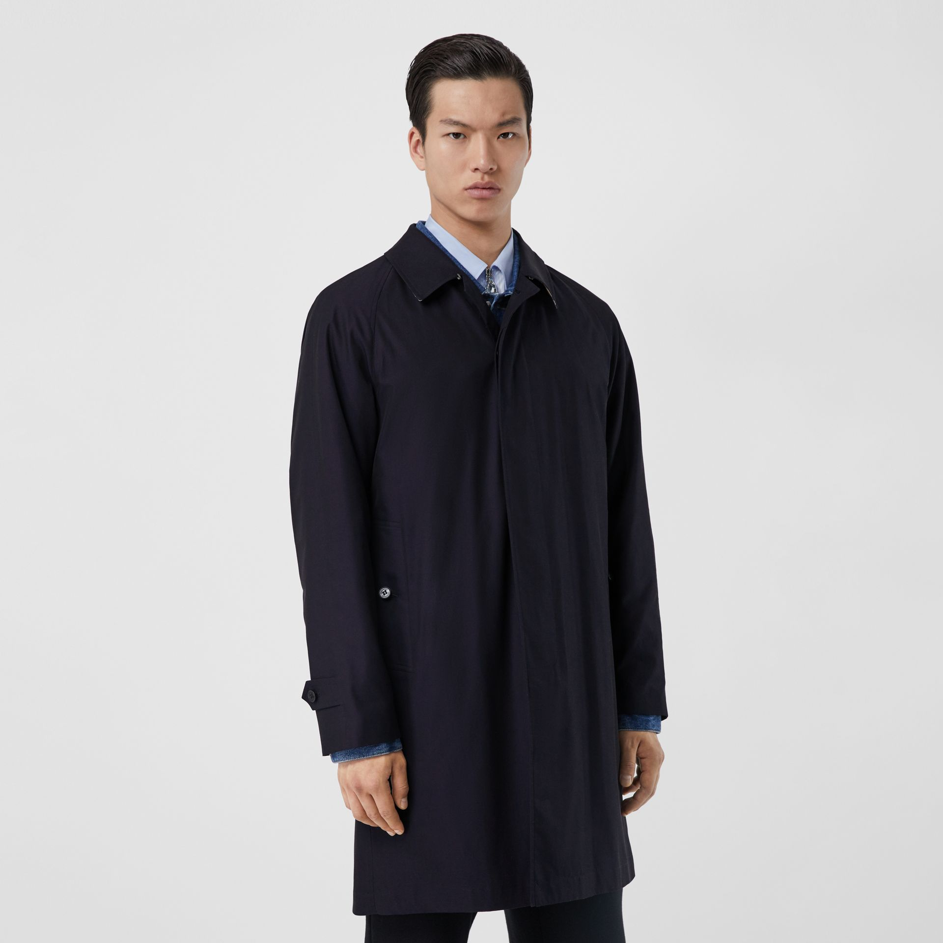 The Camden Car Coat in Blue Carbon - Men | Burberry Hong Kong S.A.R - gallery image 6