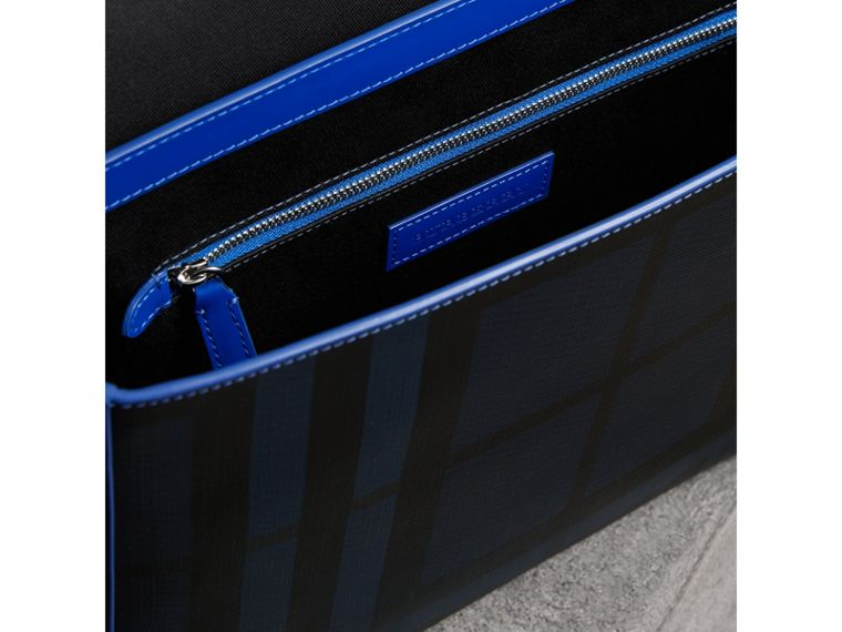 Medium Two-tone London Check Messenger Bag in Navy/blue - Men | Burberry - cell image 4