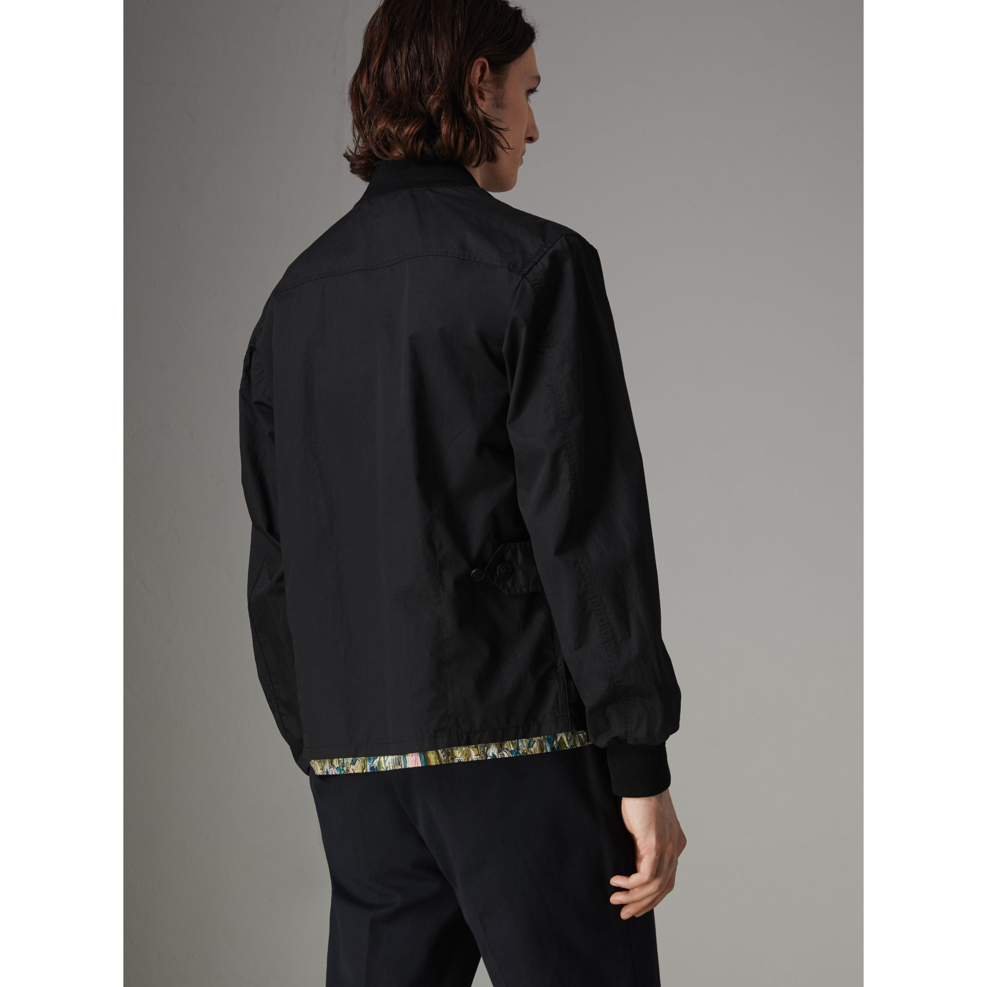 Pocket Detail Cotton Bomber Jacket in Black - Men | Burberry Singapore - gallery image 2