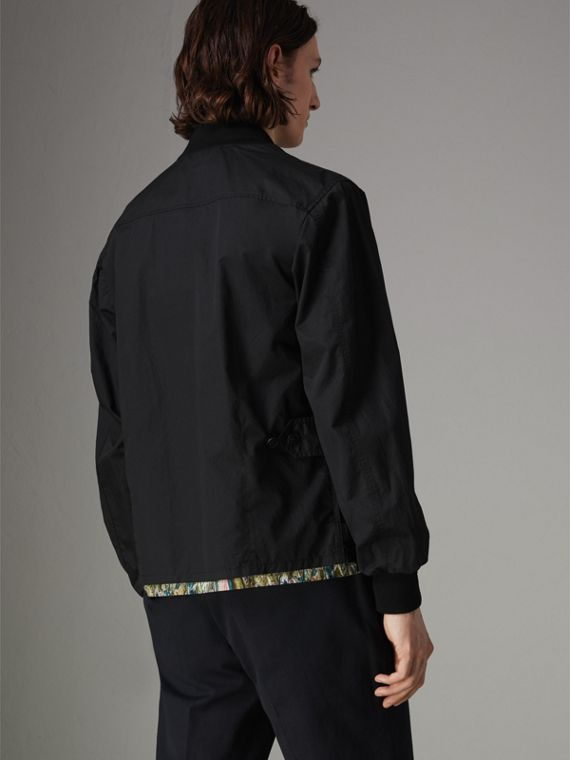 Pocket Detail Cotton Bomber Jacket in Black - Men | Burberry Singapore - cell image 2