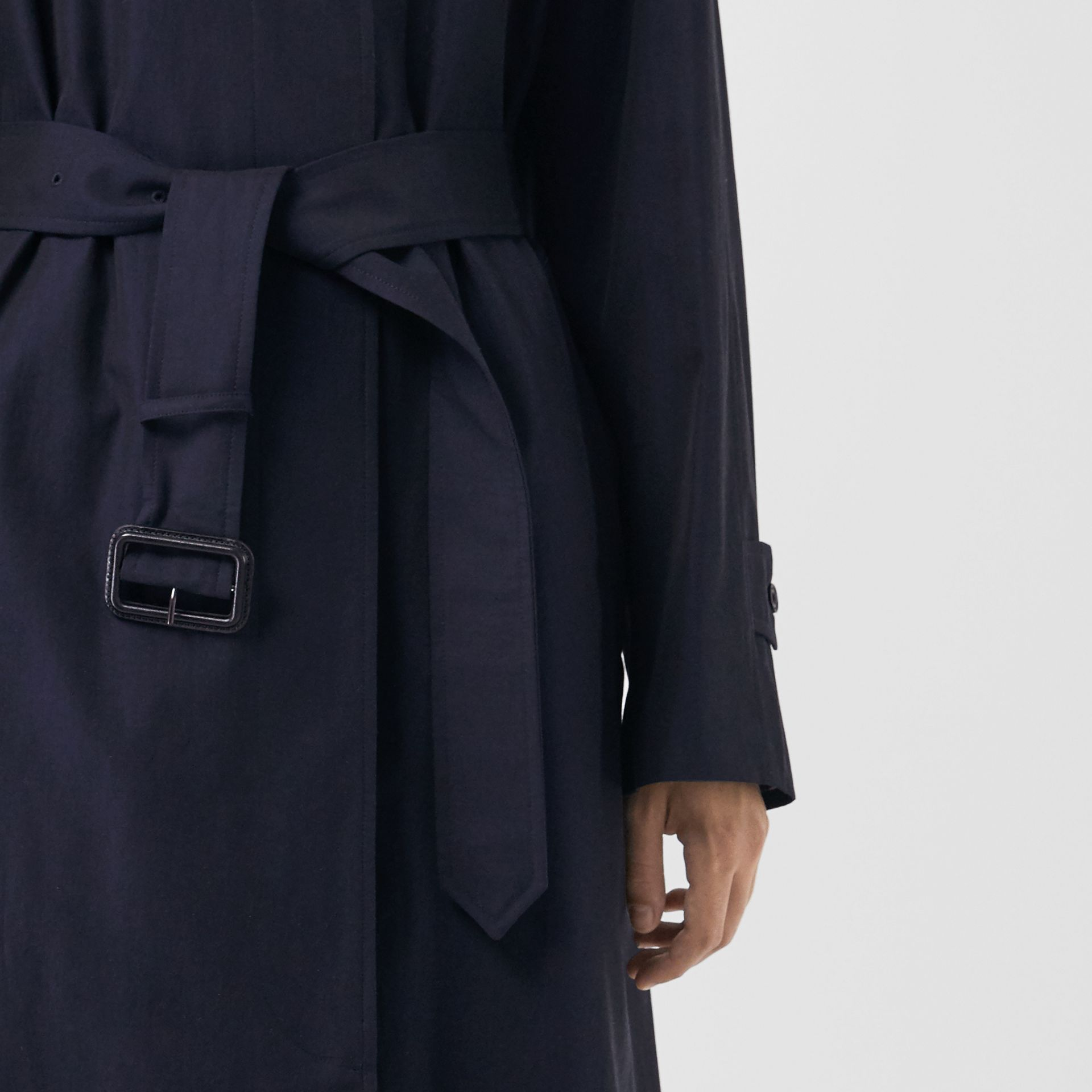 The Brighton Car Coat in Blue Carbon - Women | Burberry United States - gallery image 4