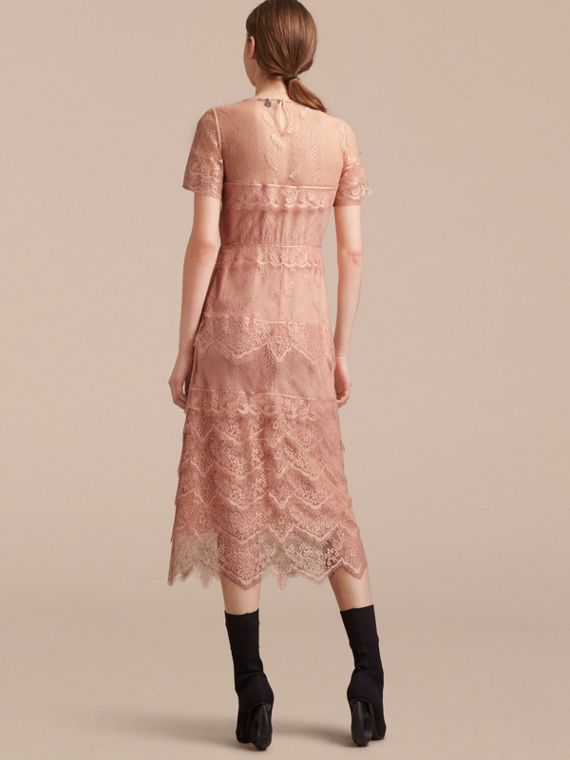 Tiered Lace Shift Dress - cell image 2