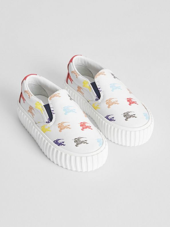 EKD Leather Slip-on Sneakers in Optic White