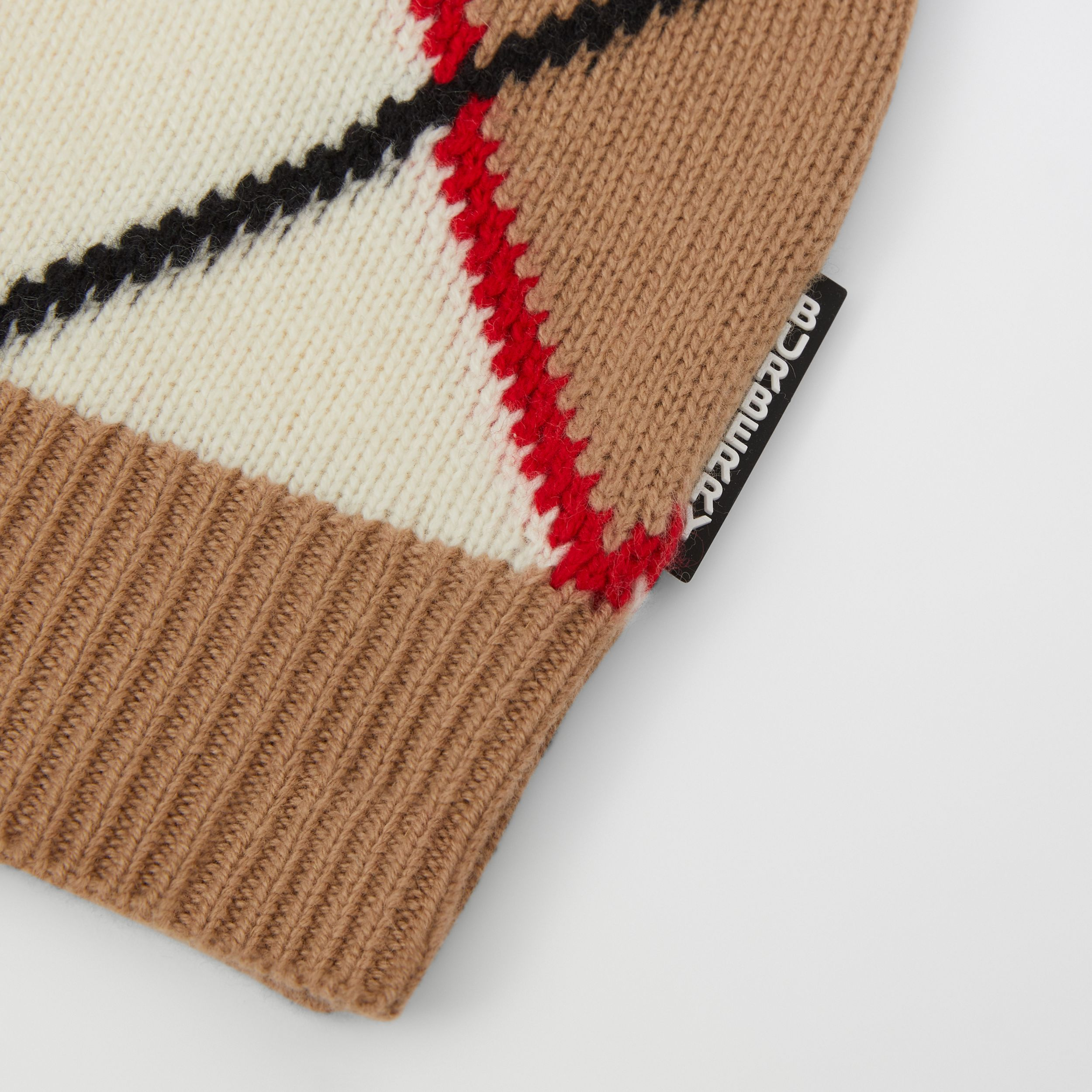 Argyle Intarsia Wool Cashmere Cardigan in Camel | Burberry - 2