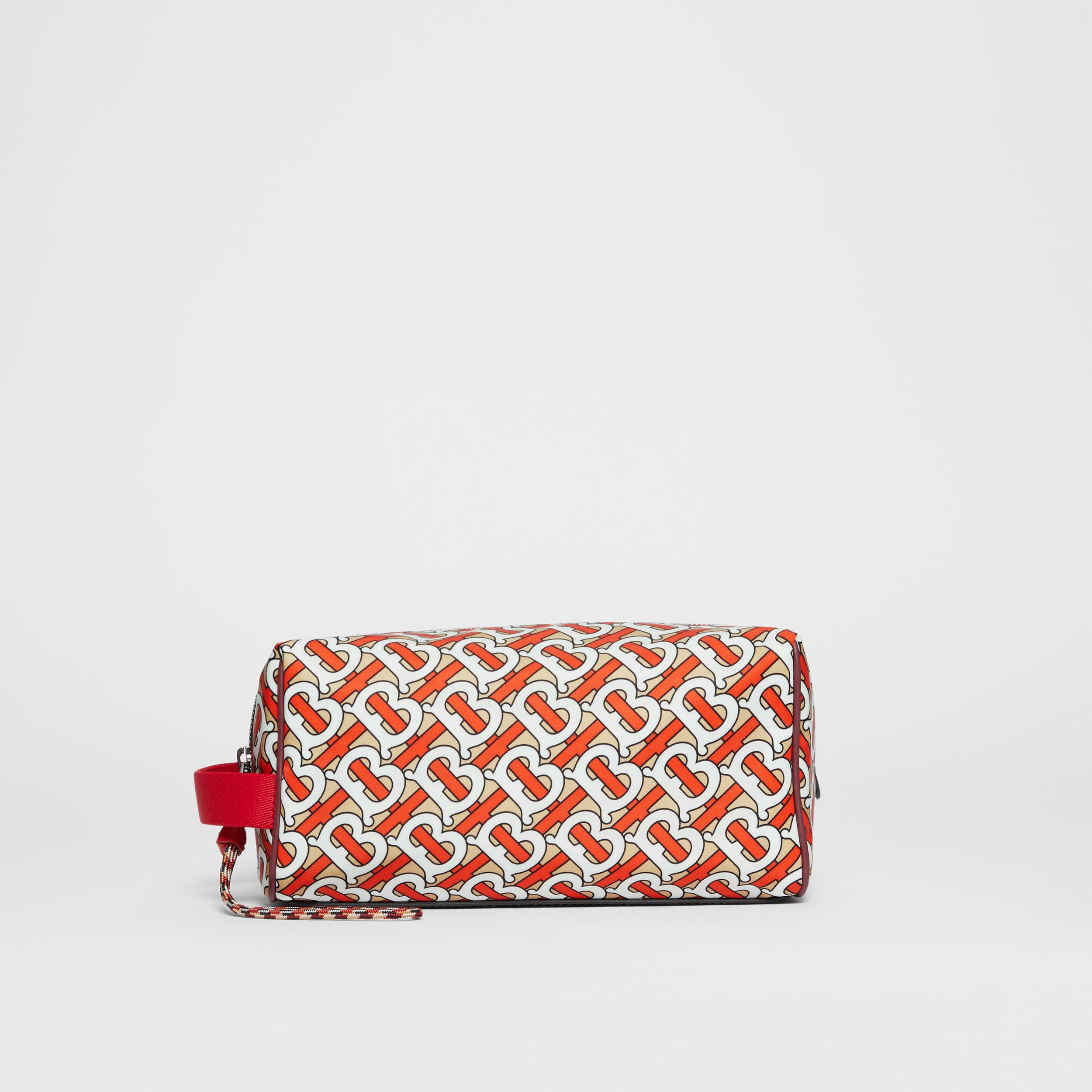 Monogram Print Nylon Travel Pouch in Vermilion | Burberry - 1
