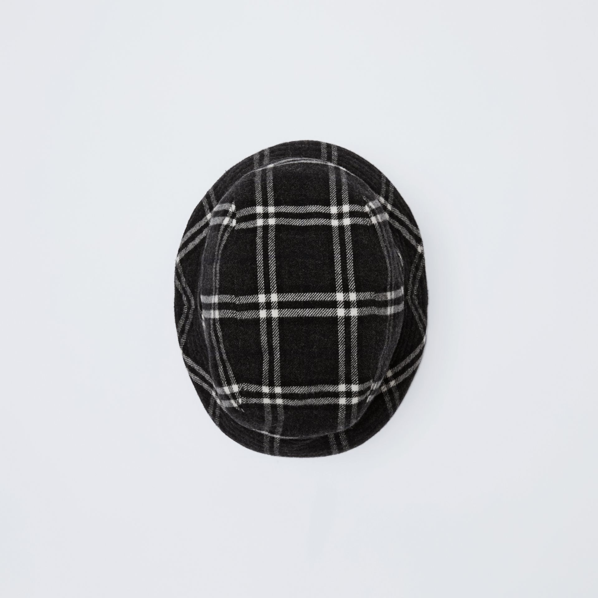 Gosha x Burberry Check Flannel Bucket Hat in Charcoal | Burberry - gallery image 5