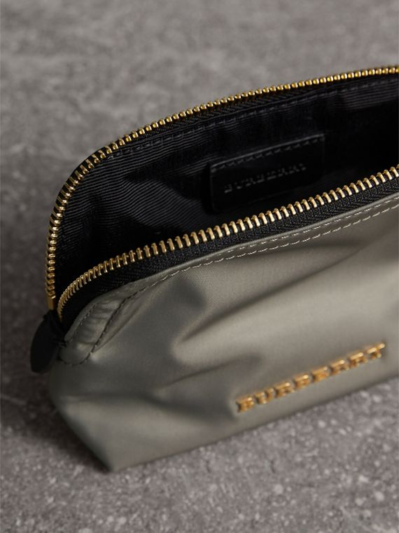 Small Zip-top Technical Nylon Pouch in Thistle Grey - Women | Burberry - cell image 3